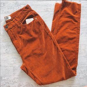 Free People hi waist corduroy pants